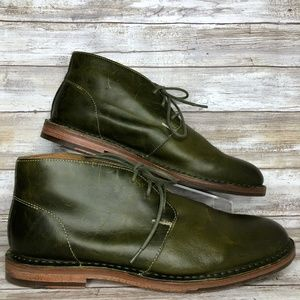 Cole Haan Glenn 10.5M Green Leather Chukka Boots